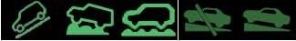 Значок автомашины, который спускается вниз