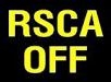 Знак на панели авто RSCA Off