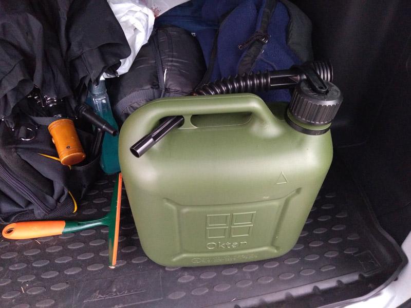 Канистра для хранения бензина