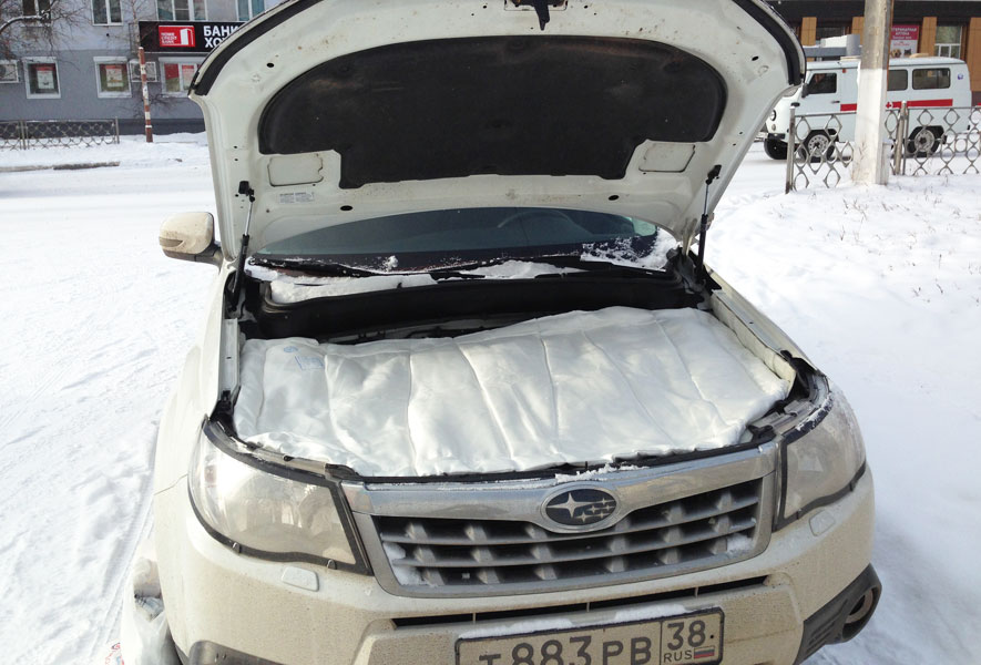 Автомобильное одеяло для двигателя