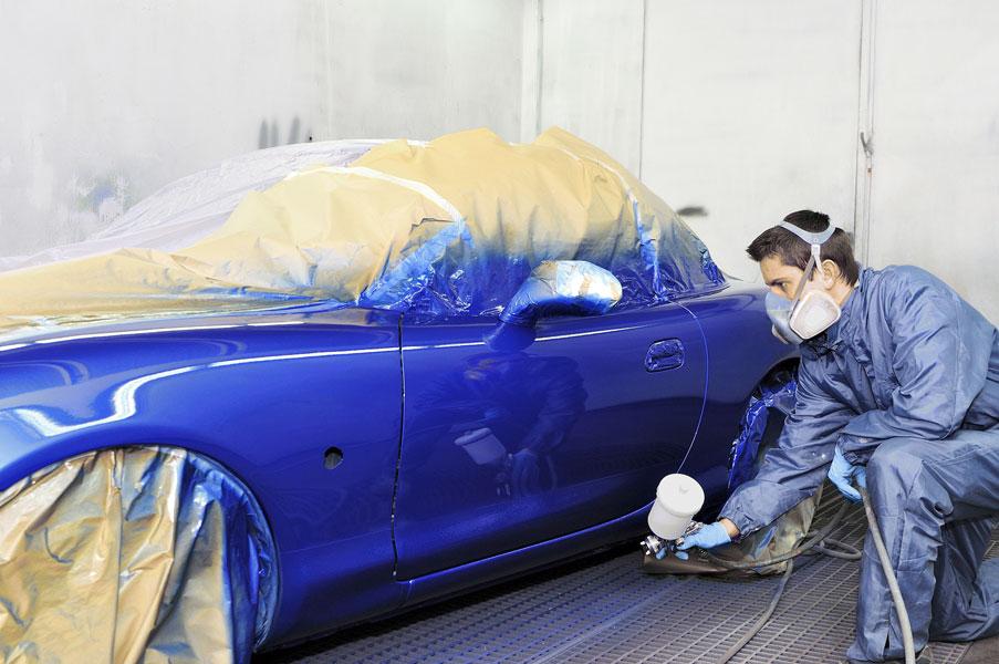 Нанесение краски на автомобиль