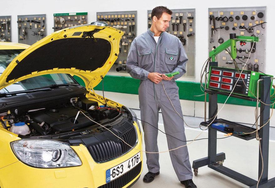 Обслуживание автомобиля в сервисном центре