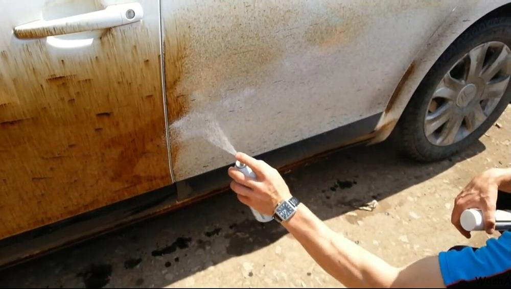 Очистка налета на кузове
