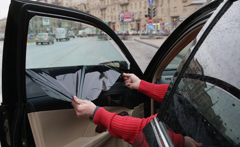 Снятие плёнки со стекла авто