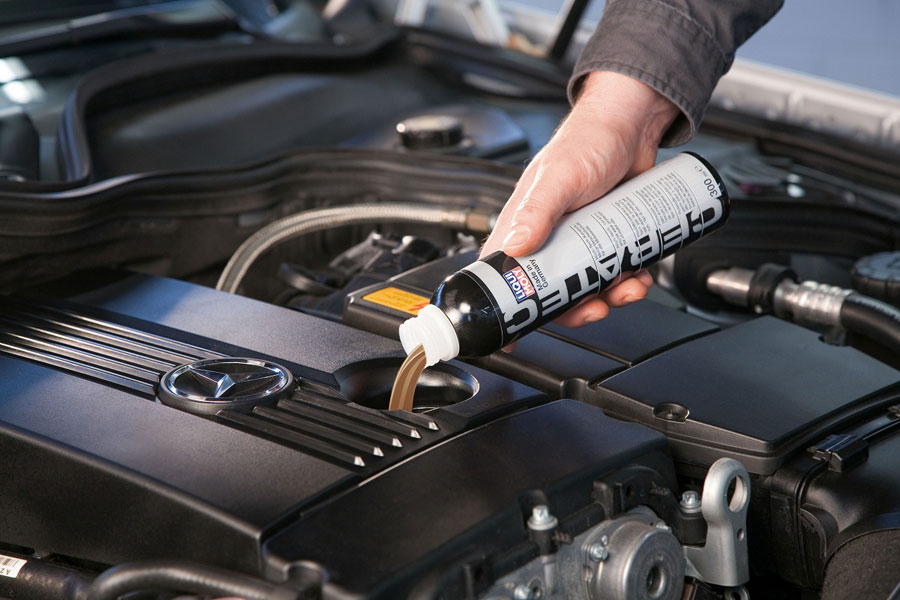 Замена смазочного материала в двигателе