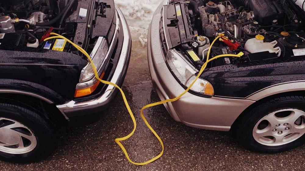 Зарядка аккумулятора автомобиля от другого автомобиля