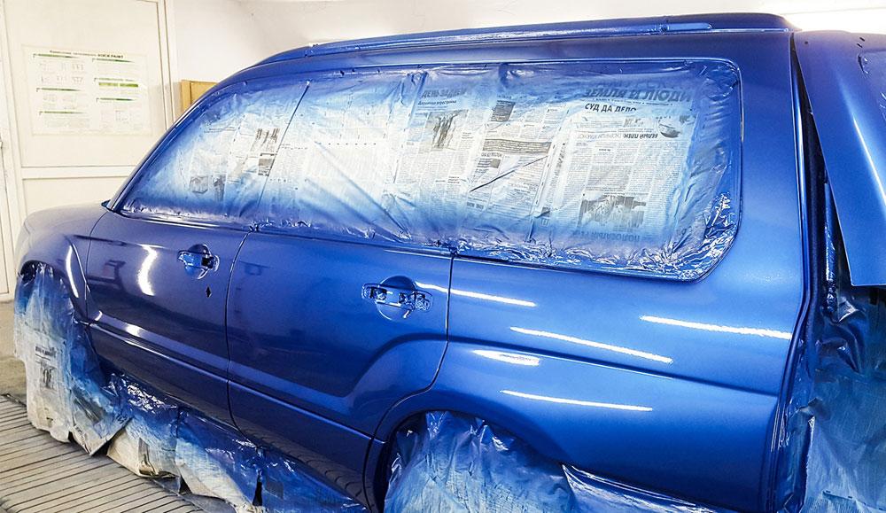 Как убрать подтёки на автомобиле после покраски