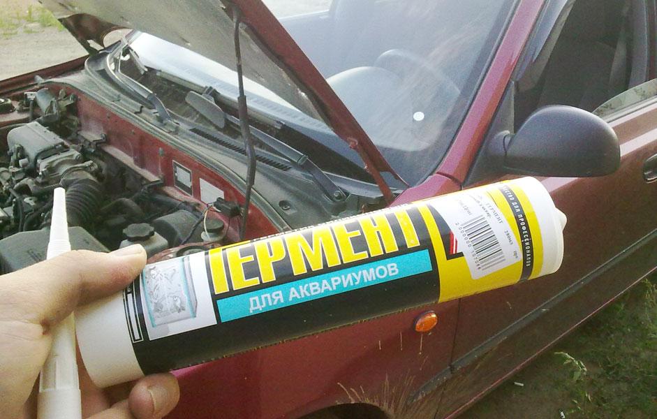 Клей герметик для фар автомобиля