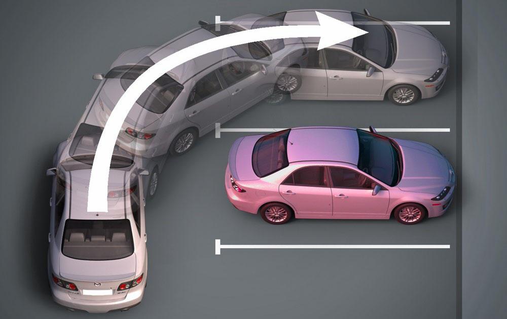 Перпендикулярный способ парковки