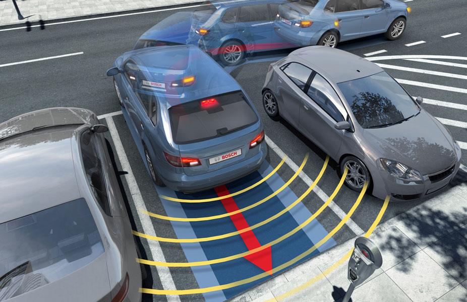 Процесс автоматической парковки