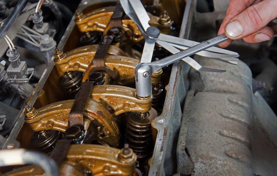 Регулировка клапанов двигателя машины
