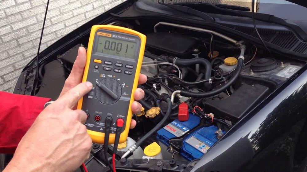 Тестирование мультиметром автомобиля