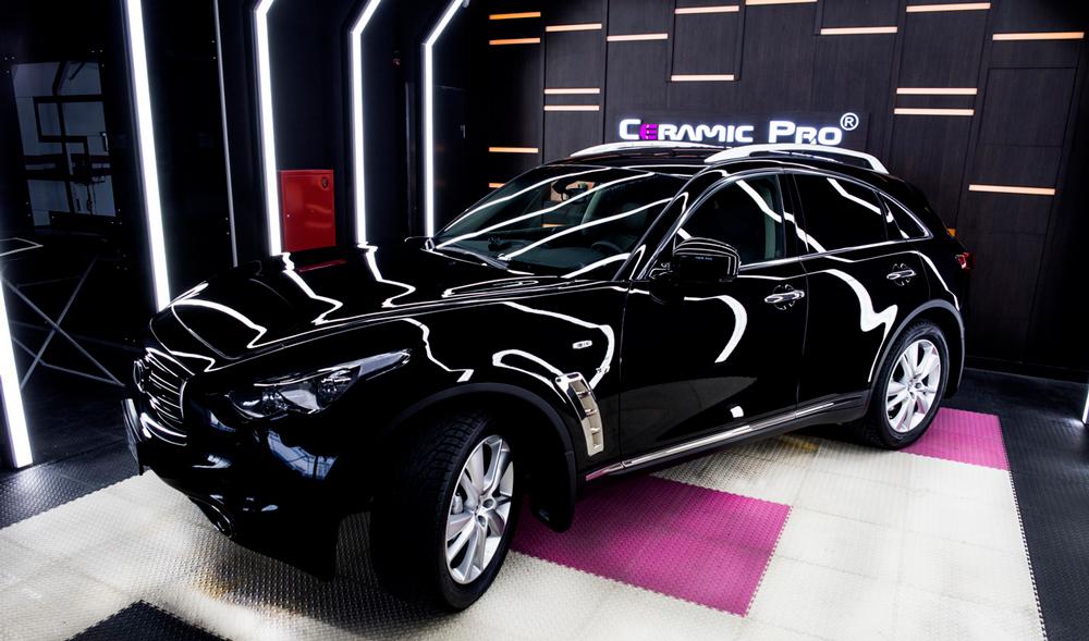 Автомобиль с покрытием из нанокерамики