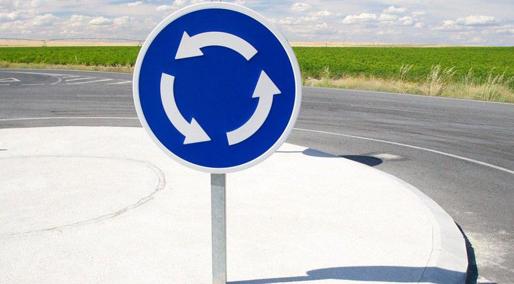 Дорожные знаки перед перекрестком
