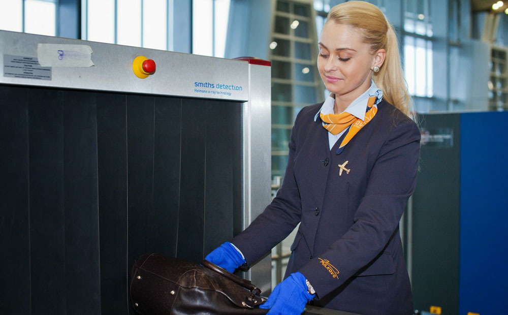 Досмотр багажа пассажира