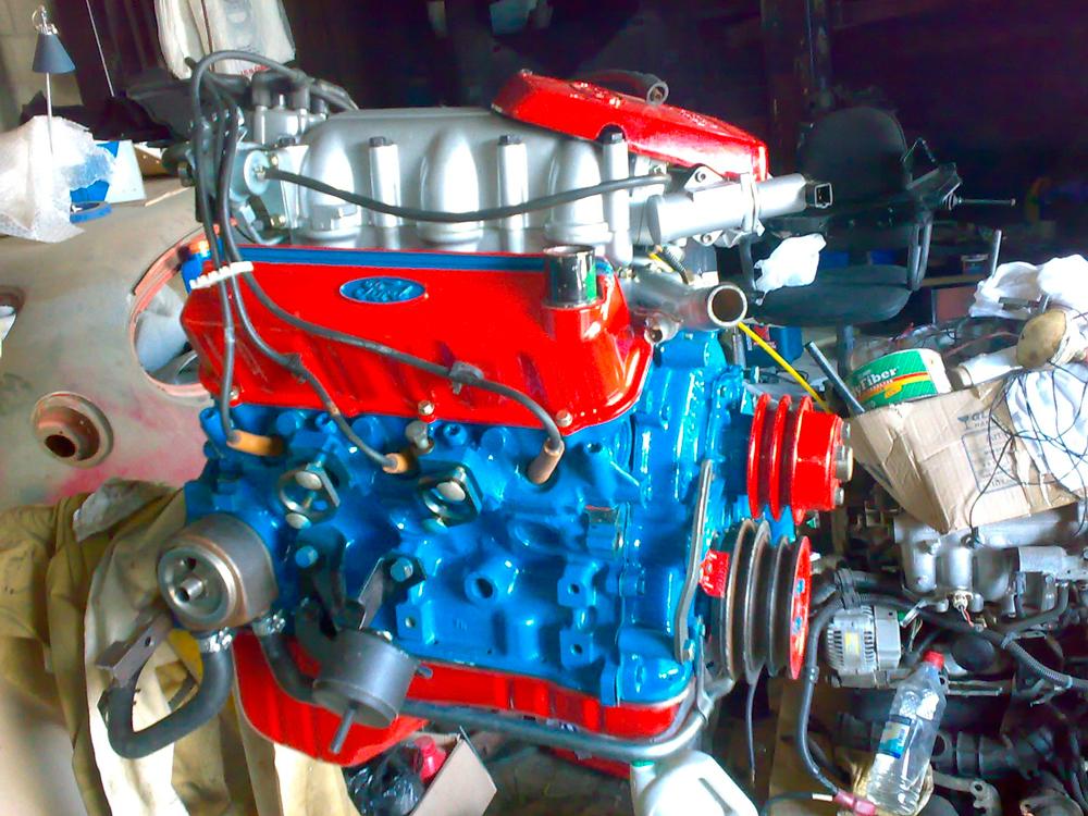 Как покрасить мотор автомобиля