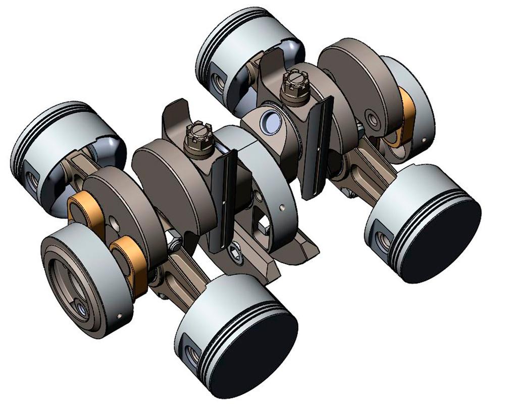 Как выглядит бесшатунный мотор Баландина