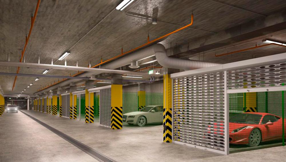 Как выглядит подземный паркинг
