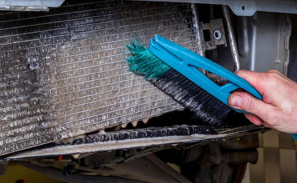Очистка радиатора автомобиля