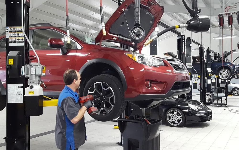 Ремонт автомобиля в мастерской