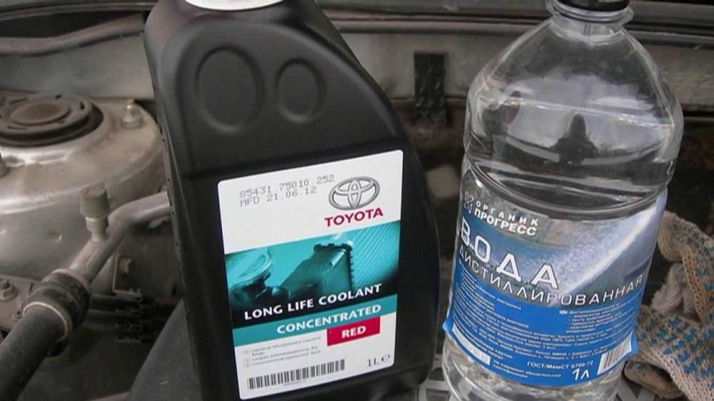 Добавление воды в антифриз