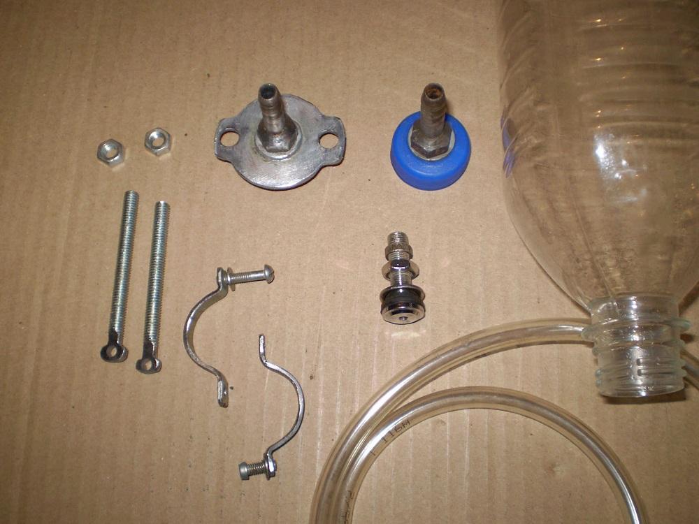 Необходимые элементы для прокачки тормозов