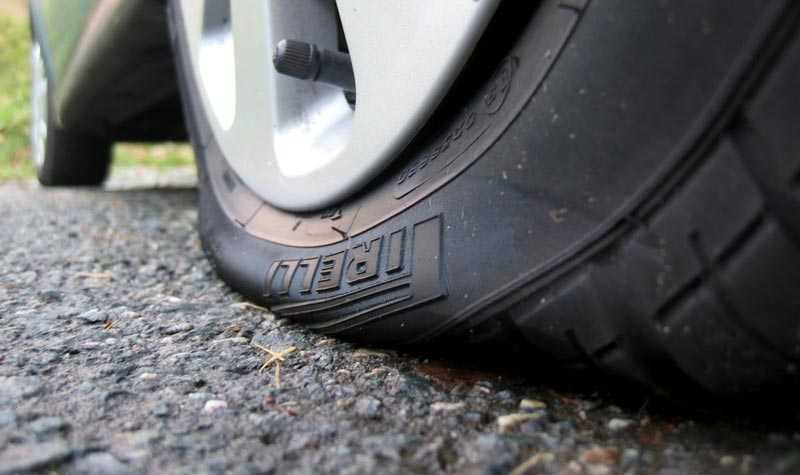 Спуск колеса из-за проблем с золотником