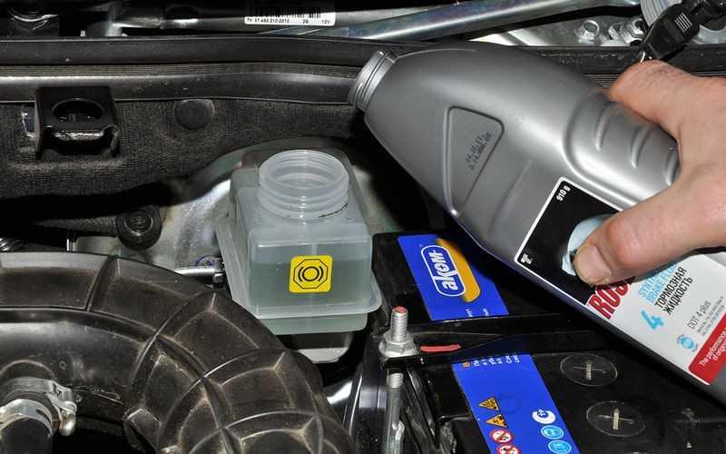 Заливка тормозной жидкости
