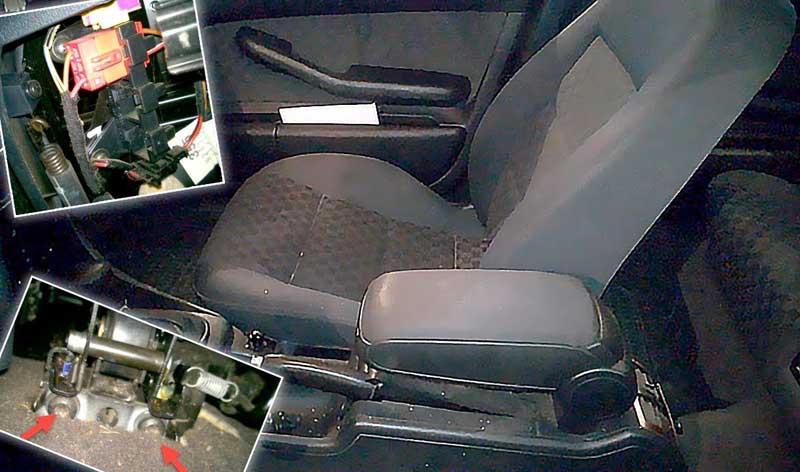 Демонтаж сиденья в машине