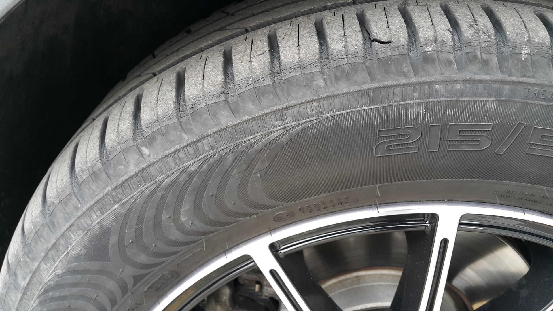 Износ автомобильной шины