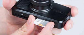 Установка карты памяти в регистратор