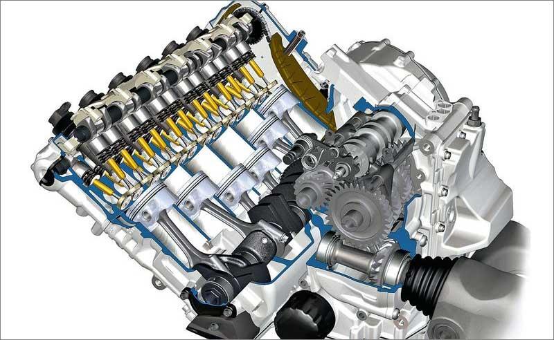 Многоцилиндровый двигатель автомобиля