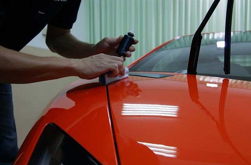 Обработка жидким стеклом кузова автомобиля