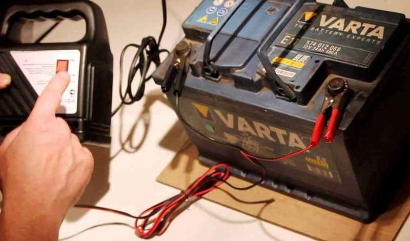 Подключение зарядки к аккумулятору автомобиля