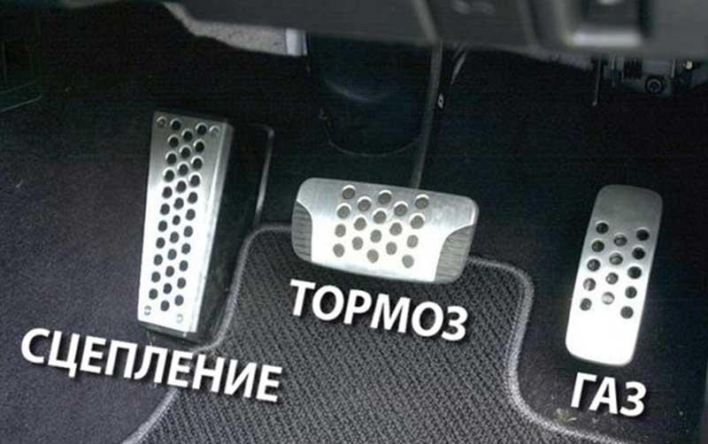 Расположение педалей в автомобиле