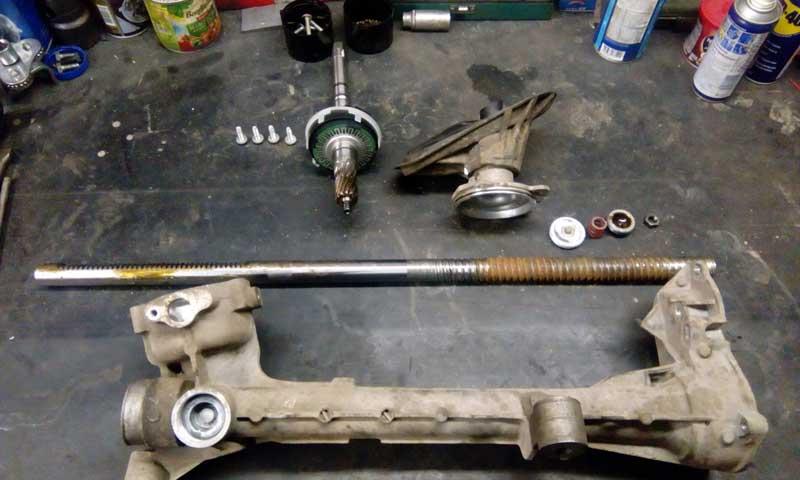 Ремонт рулевой рейки автомобиля