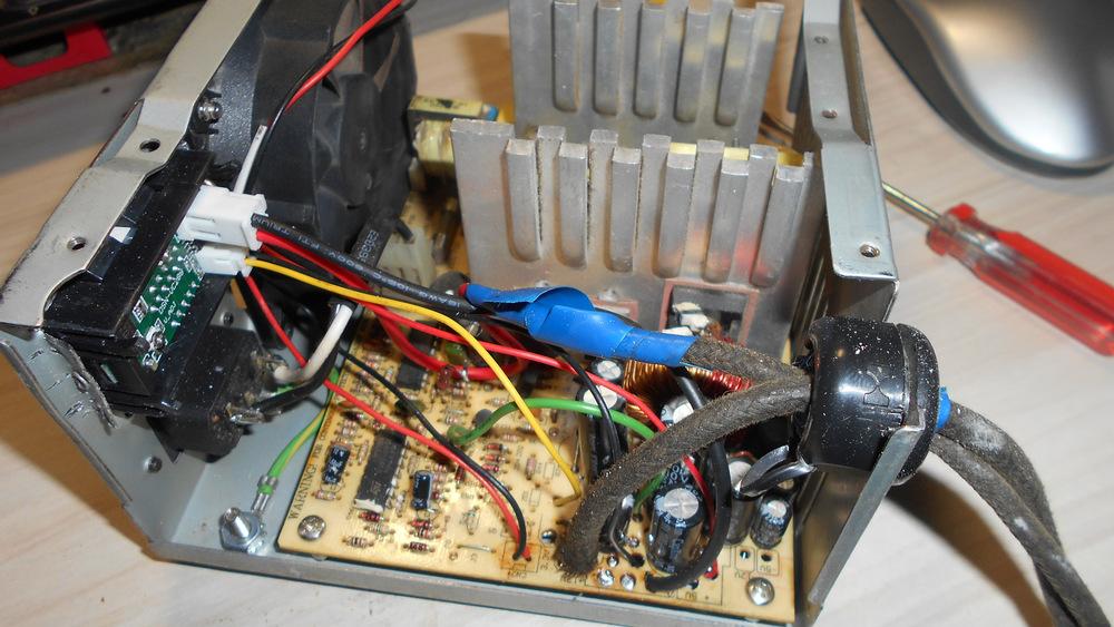 Процесс сбора ПК в зарядное устройство
