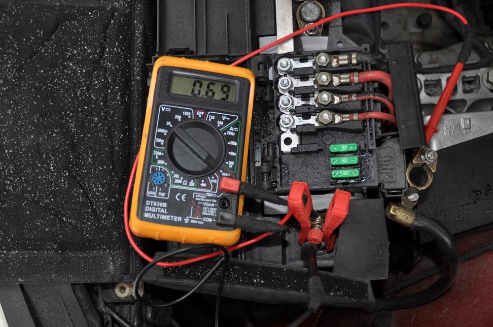 Утечка тока в автомобиле