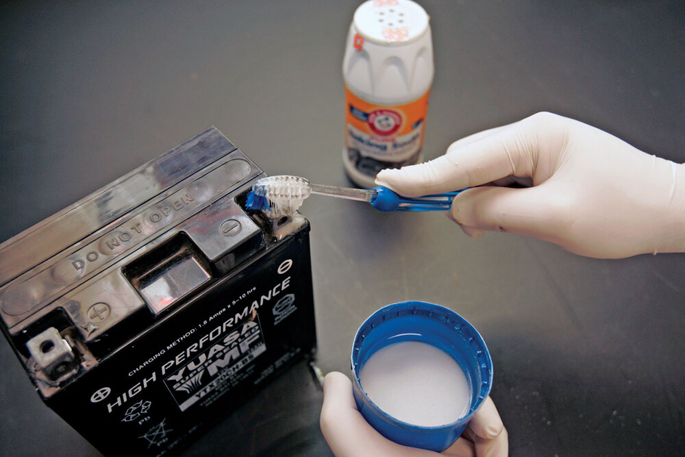 Химическая очистка аккумулятора