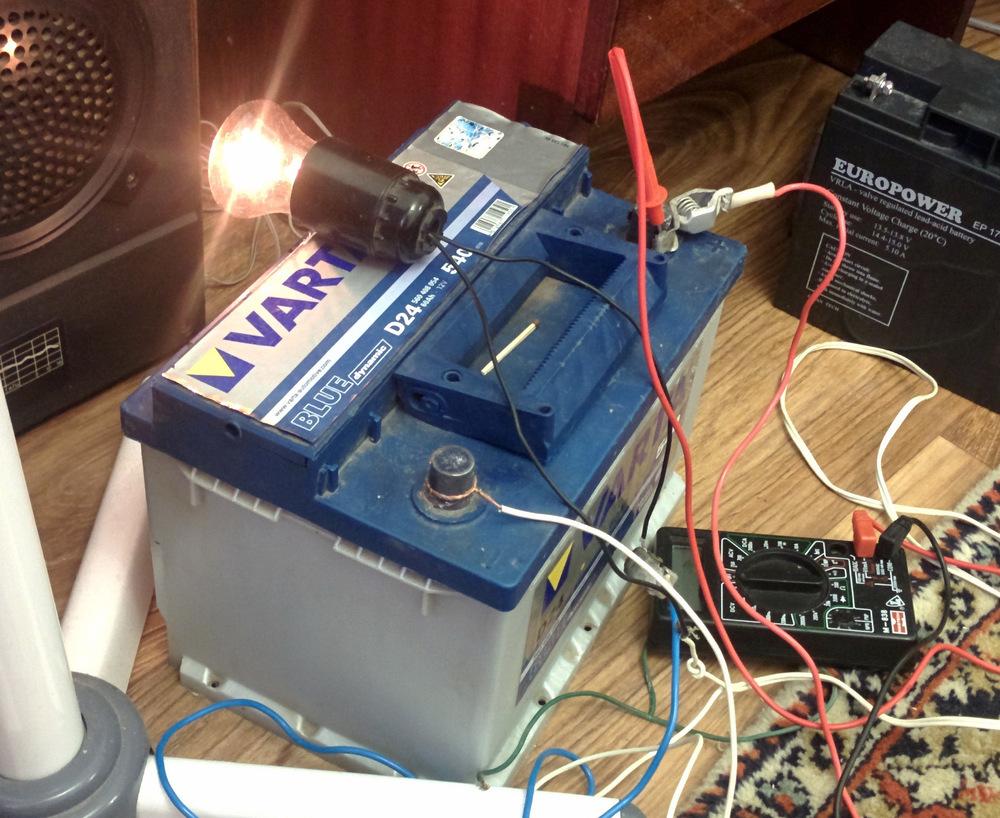 Переполюсовка для аккумулятора