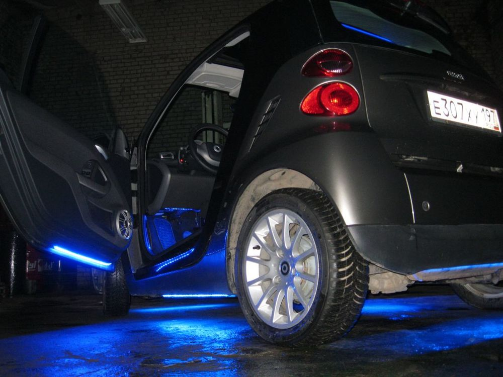 Подсветка дна авто