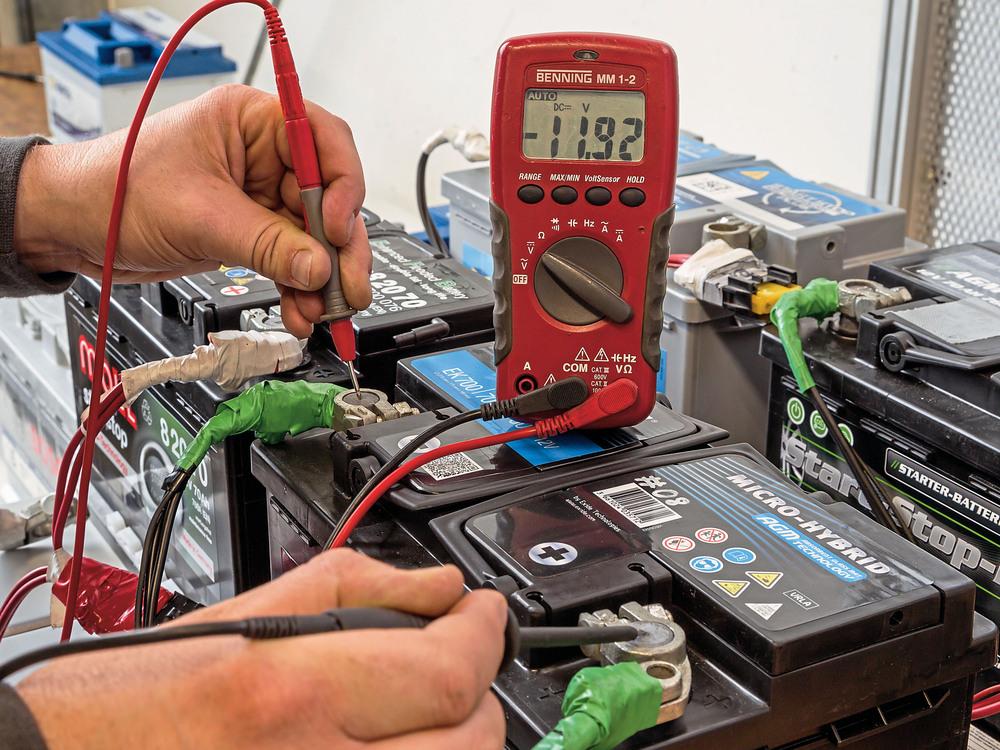 Проверка ёмкости аккумулятора автомобиля