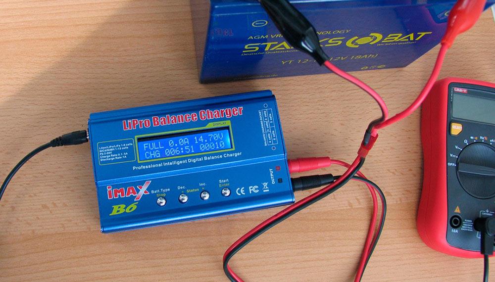 Как зарядить аккумулятор устройством Imax B6
