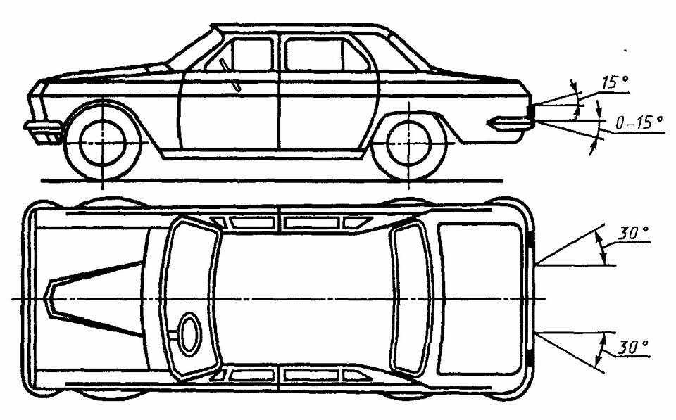 Схема установки авто номера